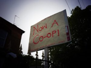 now a coop sign